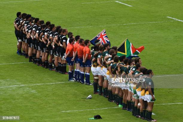 Team of New Zealand and Team of South Africa during the World Championship U20 3rd place match between South Africa and New Zealand on June 17 2018...