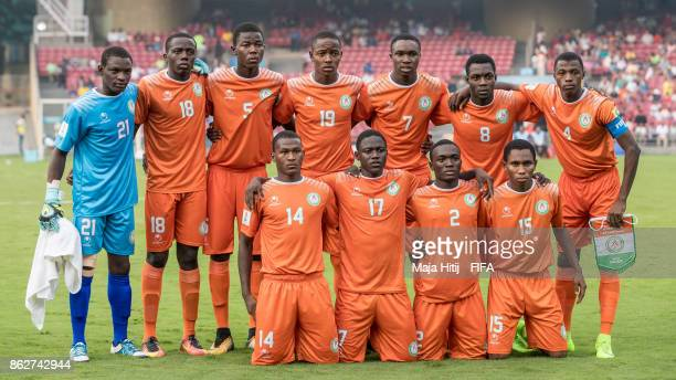 Team of Niger prior the FIFA U17 World Cup India 2017 Round of 16 match between Ghana v Niger at Dr DY Patil Cricket Stadium on October 18 2017 in...