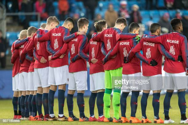 Team of Norway during International Friendly between Norway v Australia at Ullevaal Stadion on March 23 2018 in Oslo Norway