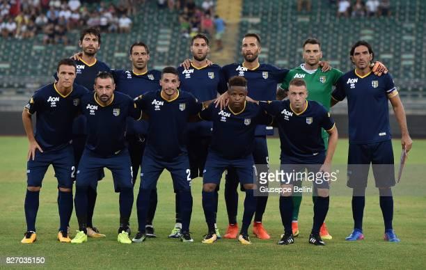 Team of Parma Calcio prior the TIM Cup match between AS Bari and Parma Calcio at Stadio San Nicola on August 6 2017 in Bari Italy