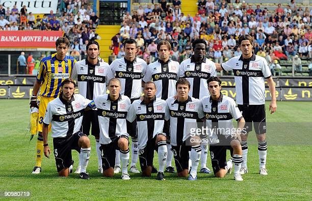 Team of Parma pose for team shot during the Serie A match between Parma F.C. And Palermo U.S. At Stadio Ennio Tardini on September 20, 2009 in Parma,...