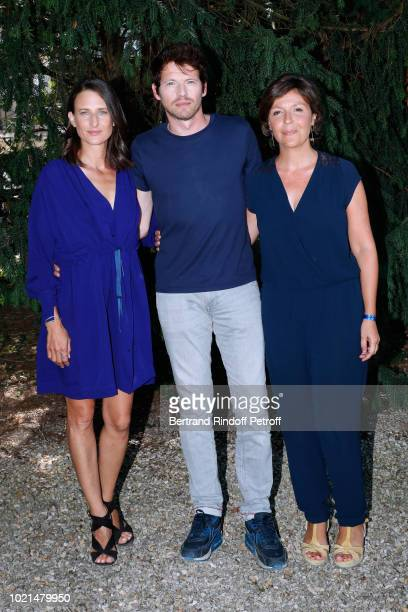 Team of 'Photo de Famille' Camille Cottin Pierre Deladonchamps and director Cecilia Rouaud attend the 11th Angouleme FrenchSpeaking Film Festival Day...