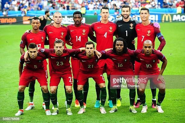 Team of Portugal during the European Championship Final between Portugal and France at Stade de France on July 10 2016 in Paris France
