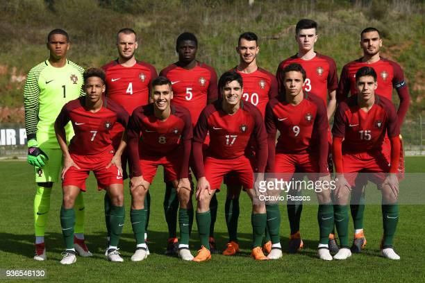 Team of Portugal during the Under 20 International Friendly match between U20 of Portugal and U20 of Germany at stadium Municipal Sergio Conceicao on...