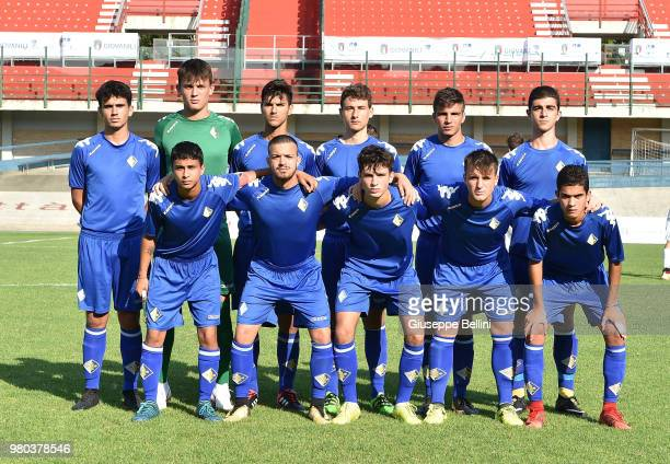 Team of Prato second classified after the U17 Serie C Final match between Prato and Pordenone at Stadio Tullo Morgagni on June 21 2018 in Forli Italy