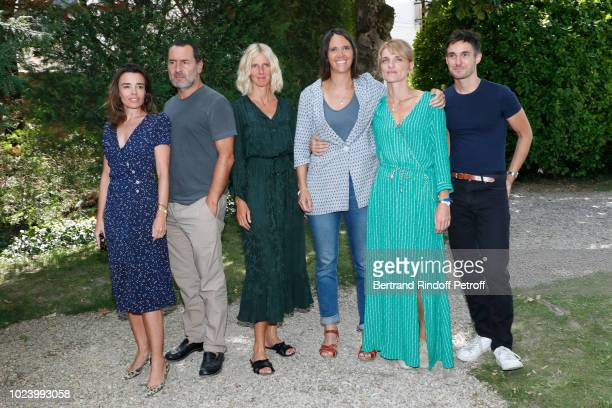 Team of Pupille Elodie Bouchez Gilles Lellouche Sandrine Kiberlain director Jeanne Herry Olivia Cote and Brice Hillairet attend the 11th Angouleme...
