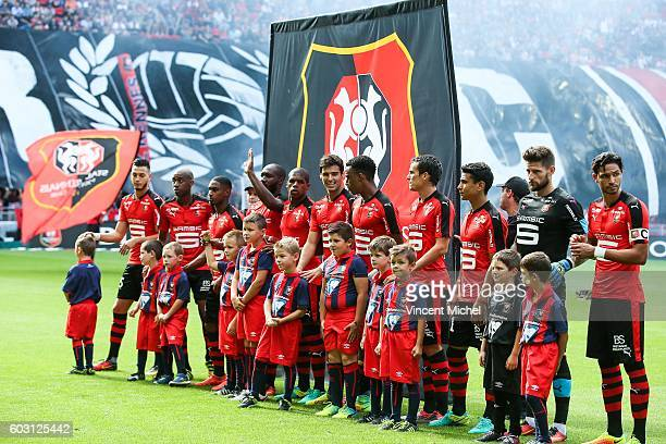 Team of Rennes during the french Ligue 1 match between Stade Rennais and SM Caen at Stade de la Route de Lorient on September 11 2016 in Rennes France
