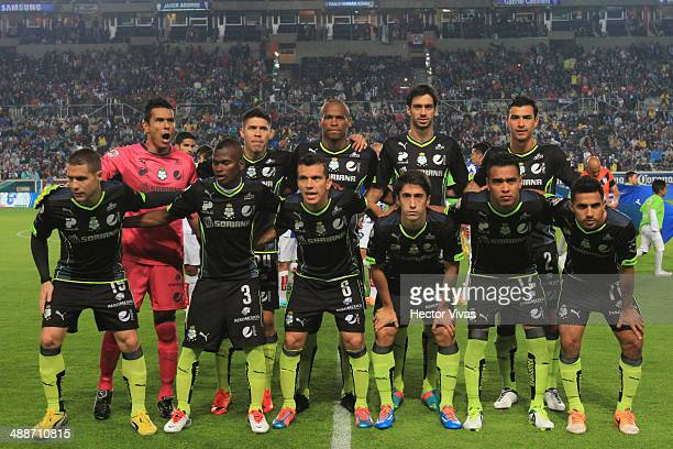 Team of Santos Laguna pose for photos before the Semifinal first leg match between Pachuca and Santos Laguna as part of the Clausura 2014 Liga MX...