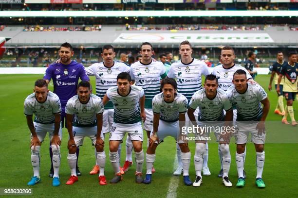 Team of Santos Laguna pose prior to the semifinals second leg match between America and Santos Laguna as part of the Torneo Clausura 2018 Liga MX at...