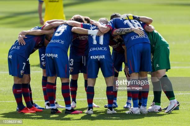 Team of SD Huesca during the La Liga Santander match between SD Huesca v Cadiz FC at the El Alcoraz Stadium on September 20 2020 in Huesca Spain