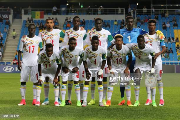 Team of Senegal ahaed the FIFA U20 World Cup Korea Republic 2017 group F match between Senegal and USA at Incheon Munhak Stadium on May 25 2017 in...