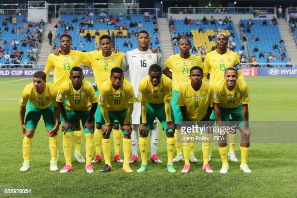 Team of South Africa before the FIFA U20 World Cup Korea Republic 2017 group D match between Uruguay and South Africa at Incheon Munhak Stadium on...