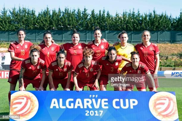 Team of Spain Women Marta Torrejon Moya Andrea Pereira Cejudo Ivana Andres Sanz Jennifer Hermoso Fuentes Sandra Paos Alexia Putellas Segura Maria...
