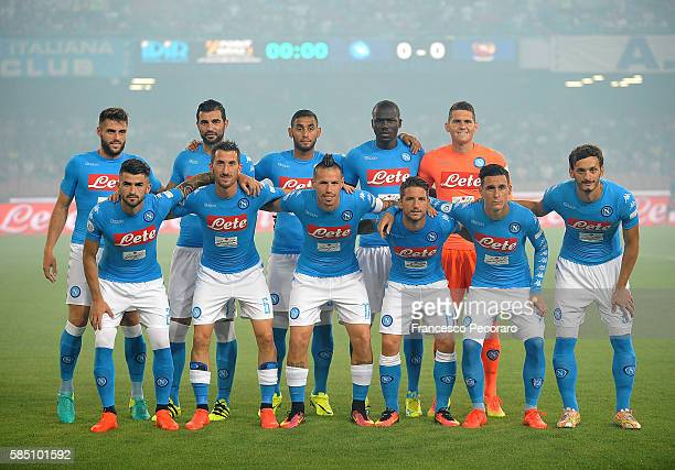 Team of SSC Napoli before the preseason friendly match between SSC Napoli and OGC Nice at Stadio San Paolo on August 1 2016 in Naples Italy