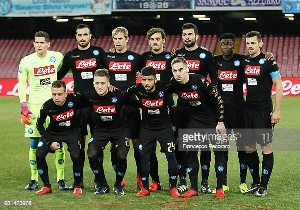Team of SSC Napoli before the TIM Cup match between SSC Napoli and AC Spezia at Stadio San Paolo on January 10 2017 in Naples Italy