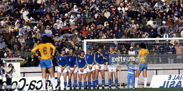 Team of Sweden during the match between Brazil and Sweden played at Mar Del Plata Argentina on June 3rd 1978