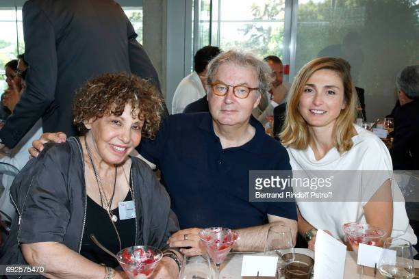 Team of Television series 'Dix pour cent' Actors Liliane Rovere Dominique Besnehard and Julie Gayet attend the 'France Television' Lunch during the...