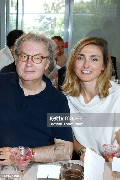 Team of Television series 'Dix pour cent' Dominique Besnehard and Julie Gayet attend the 'France Television' Lunch during the 2017 French Tennis Open...