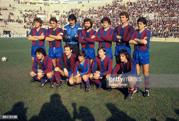 Team of the FC Barcelona in 1977 The soccer player Johan Cruyff among the players