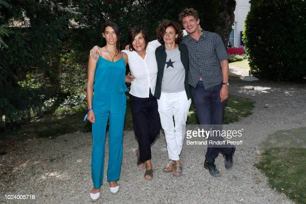 Team of the film 'Un amour impossible' Estelle Lescure director Catherine Corsini guest and Niels Schneider attend the 11th Angouleme FrenchSpeaking...