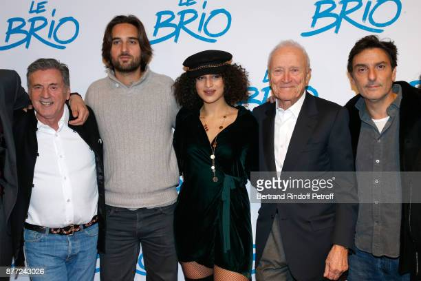 Team of the movie Actor Daniel Auteuil producer Dimitri Rassam actress Camelia Jordana president of Pathe Jerome Seydoux and director Yvan Attal...
