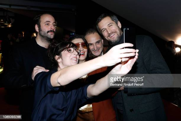 Team of the movie Actor Vincent Macaigne humorist Nora Hamzawi actress Juliette Binoche director Olivier Assayas and actor Guillaume Canet attend the...