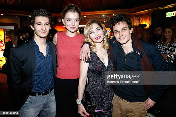 Team of the movie Actors Anthony Sonigo Eden Ducourant Alix Benezech and Fabian Wolfrom attend the 'Bis' Movie Paris Premiere at Cinema Gaumont...