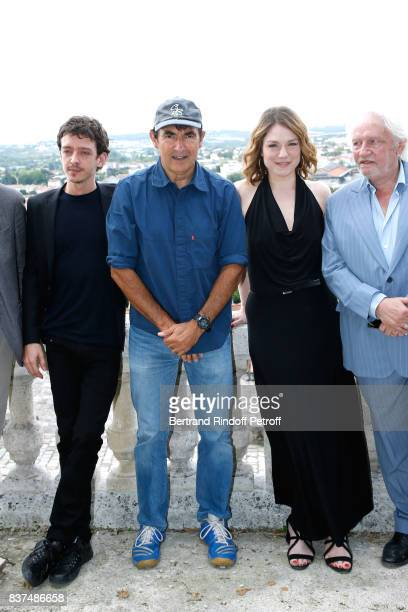 Team of the movie Actors Nahuel Perez Biscayart Director Albert Dupontel actors Emilie Dequenne and Niels Arestrup attend the 10th Angouleme...
