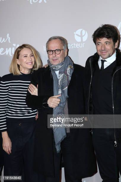 Team of the movie Actors Pascale Arbillot Fabrice Luchini and Patrick Bruel attend the Le Meilleur reste a venir Premiere at Le Grand Rex on December...