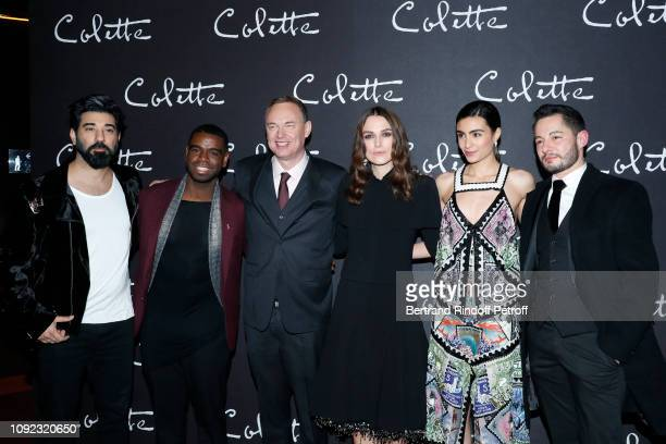 Team of the movie Actors Ray Panthaki Johnny K Palmer director Wash Westmoreland actors Keira Knightley Aiysha Hart and Jake Graf attend the...
