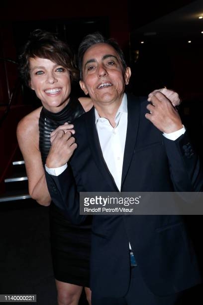 Team of the movie Actress Anne Le Nen and codirector Bruno Lopez attend the Des Gens Bien Paris Premiere at Gaumont Opera Premier on April 02 2019 in...