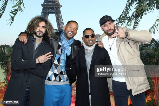 """Team of the movie : Adil El Arbi, Will Smith, Martin Lawrence and Bilall Fallah attend the """"Bad Boys for Life"""" Photocall at Terrasse du Cafe de..."""