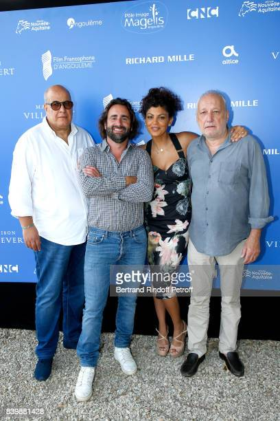 "Team of the movie ""C'est tout pour moi"", Co-Directors Ludovic Colbeau-Justin, Nawell Madani and actor Francois Berleand attend the 10th Angouleme..."