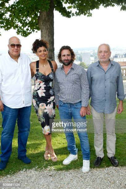 "Team of the movie ""C'est tout pour moi"", Co-Directors Nawell Madani, Ludovic Colbeau-Justin and actor Francois Berleand attend the 10th Angouleme..."