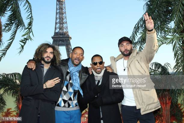 """Team of the movie : Co-Director Adil El Arbi, actors Will Smith, Martin Lawrence and Co-Director Bilall Fallah attend the """"Bad Boys for Life""""..."""