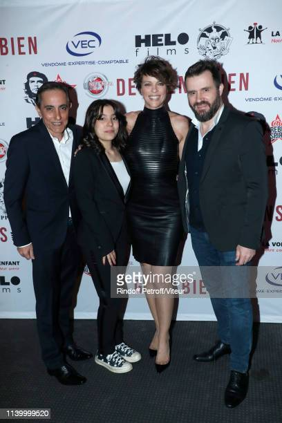 Team of the movie Codirector Bruno Lopez his daughter actress Paloma Lopez actress Anne Le Nen and codirector Emmanuel Vieilly attend the Des Gens...