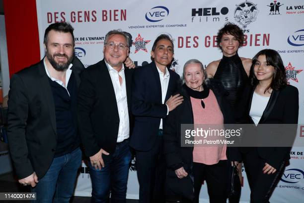Team of the movie Codirector Emmanuel Vieilly producer Christophe Hermet codirector Bruno Lopez actresses Monique Chaumette Anne Le Nen and Paloma...