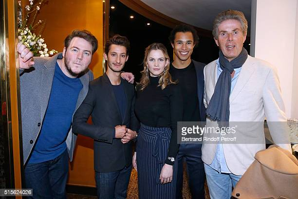 Team of the Movie Director and Actor Igor Gotesman Actors Pierre Niney Margot Bancilhon and Idrissa Hanrot with CEO of Lucien Barriere Group...