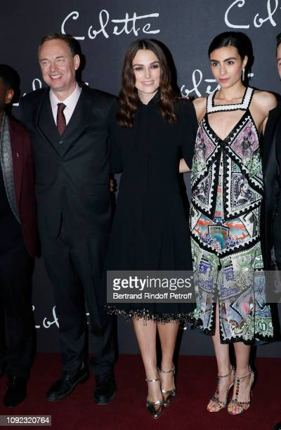 Team of the movie Director Wash Westmoreland actresses Keira Knightley and Aiysha Hart attend the 'Colette' Paris Premiere at Cinema Gaumont Marignan...