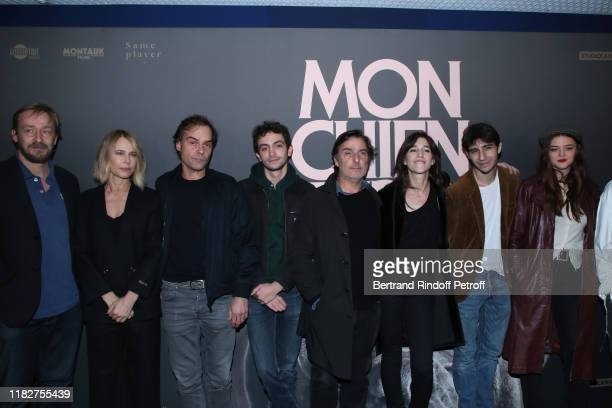 Team of the movie Eric Ruf Pascale Arbillot Sebastien Thiery Pablo Venzal Yvan Attal Charlotte Gainsbourg Ben Attal and Adele Wismes attend the Mon...