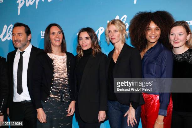 """Team of the movie : Gilles Lellouche, director Jeanne Herry, Elodie Bouchez, Sandrine Kiberlain, Stefi Celma and Leila Muse attend the """"Pupille""""..."""