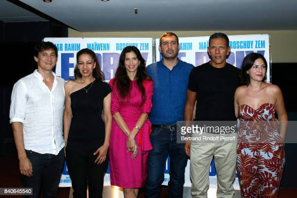 Team of the movie Gregoire Colin Meriem Serbah Maiwenn Le Besco Teddy LussiModeste Roschdy Zem and Malika Bireche attend the 'Le Prix Du Success'...