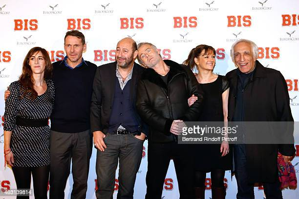 Team of the movie Guest Julien Boisselier Kad Merad Franck Dubosc Anne Girouard and Gerard Darmon attend the 'Bis' Movie Paris Premiere at Cinema...