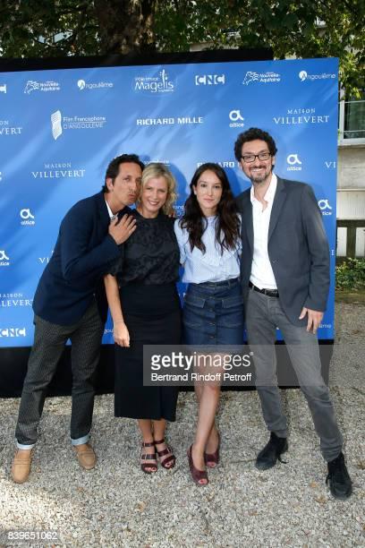 Team of the movie 'Jalouse' CoDirector Stephane Foenkinos actresses Karin Viard Anais Demoustier and codirector David Foenkinos attend the 10th...