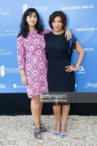 Team of the movie La belle et la meute actress Mariam Al Ferjani and director Kaouther Ben Hania attend the 10th Angouleme FrenchSpeaking Film...