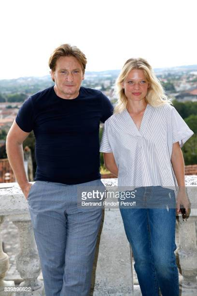 Team of the movie 'La douleur' actors Benoit Magimel and Melanie Thierry attend the 10th Angouleme FrenchSpeaking Film Festival Day Six on August 27...