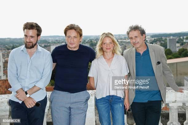 Team of the movie 'La douleur' actors Gregoire LeprinceRinguet Benoit Magimel Melanie Thierry and director Emmanuel Finkiel attend the 10th Angouleme...