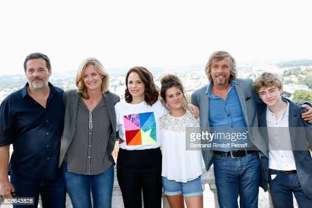 Team of the movie 'Le rire de ma mere' directors Pascal Ralite Colombe Savignac actors Suzanne Clement Salome Larouquie Pascal Demolon and Igor van...