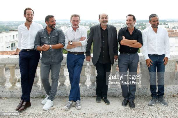 Team of the movie 'Le sens de la fete' actor Benjamin Laverhne codirector Olivier Nakache actors JeanPaul Rouve JeanPierre Bacri Gilles Lellouche and...