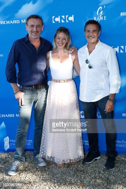 Team of the movie 'Lola et ses freres' JeanPaul Rouve Ludivine Sagnier and Jose Garcia attend the 11th Angouleme FrenchSpeaking Film Festival Day One...